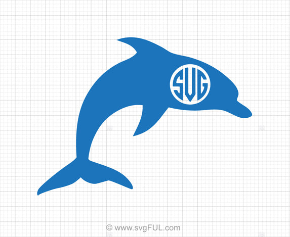 Free Dolphin Monogram SVG Clipart