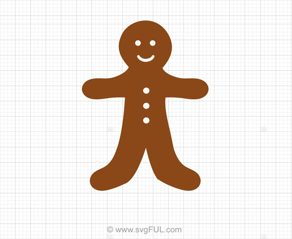 Free Gingerbread Man SVG Clipart
