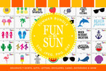 Fun In The Sun Svg Clipart Printables Craft Bundle