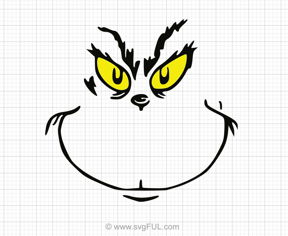 This is a graphic of Printable Grinch Face within whobilation