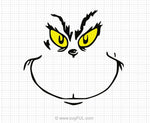 Grinch Face Svg Clipart