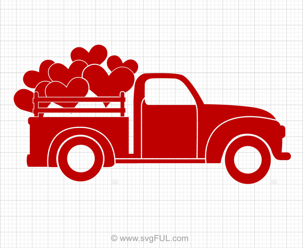 Heart Truck Svg Clipart