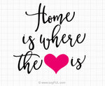 Home Is Where The Heart Is Svg Saying
