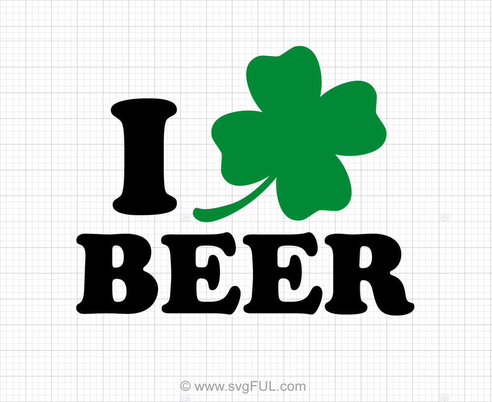 I Love Beer Svg Saying