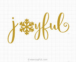 Joyful Christmas Svg Saying