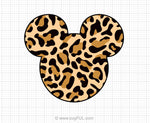 Leopard Print Mickey Mouse Svg Clipart