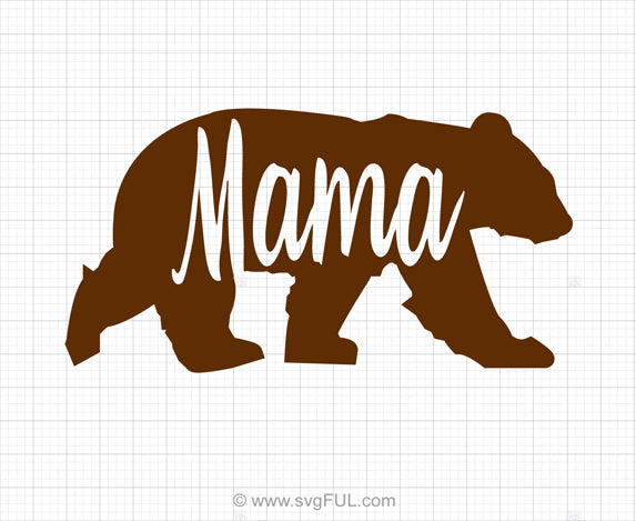 Mama Bear SVG Clipart