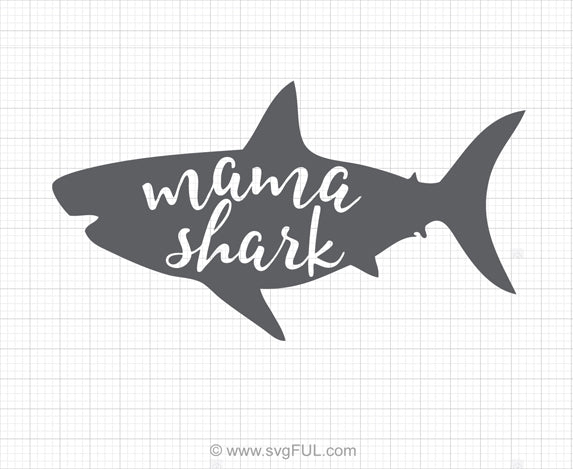 Mama Shark Svg Clipart