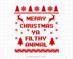 Merry Christmas Ugly Christmas Sweater Svg Saying