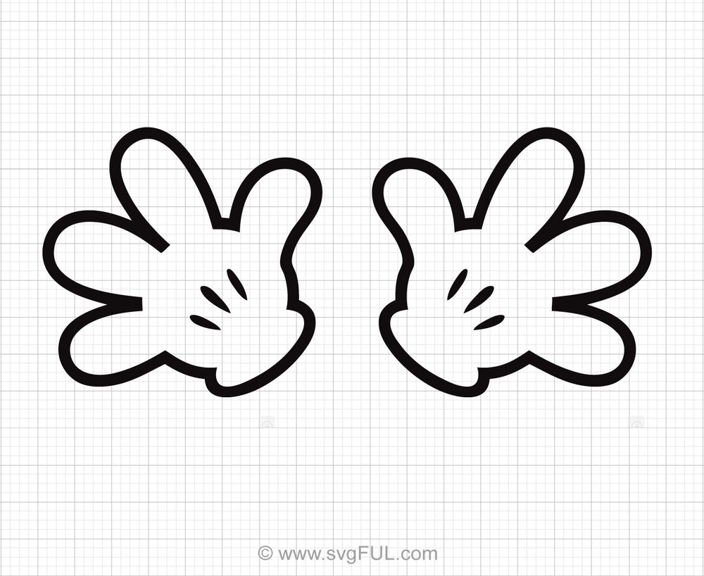 Mickey Mouse Hands Svg Clipart