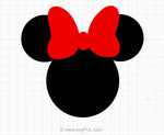 Minnie Mouse Red Svg Clipart