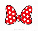 Minnie Mouse Polka Dot Bow Svg Clipart