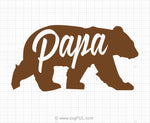 Papa Bear Svg Clipart