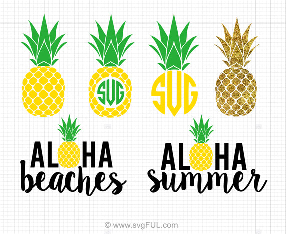Summer Pineapple SVG Bundle