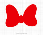 Red Minnie Mouse Bow Svg Clipart