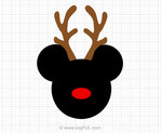 Reindeer Mickey Mouse Svg Clipart