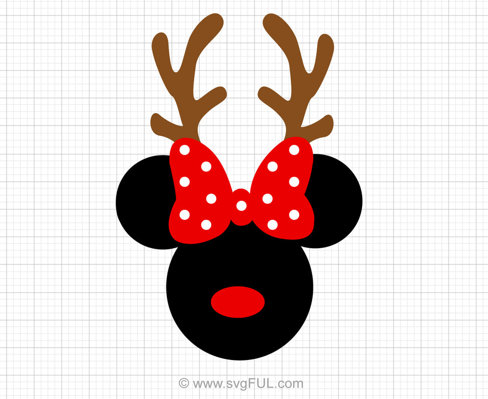 Minnie Mouse Reindeer Svg Clipart