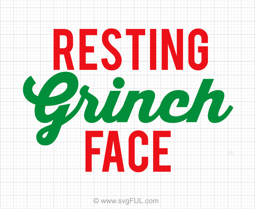Resting Grinch Face Svg Saying