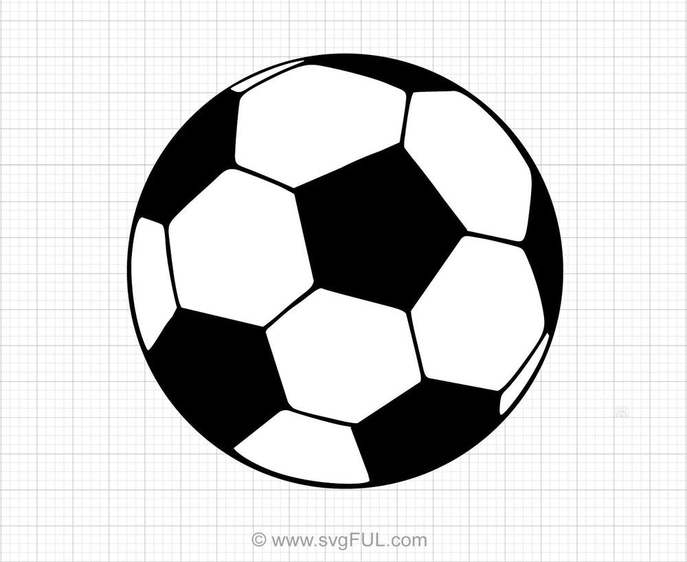 Soccer Ball Svg Clipart