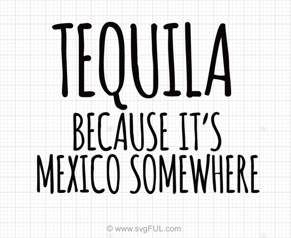 Tequila Because It's Mexico Somewhere Design
