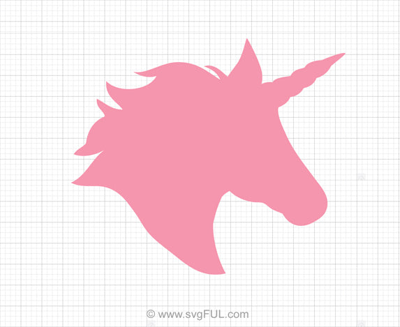 Unicorn Head Svg Clipart