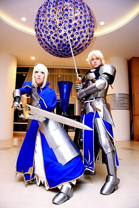 Show Us Your Moves: Aerial and Strike Cosplay Saber from Fate/Stay Night!