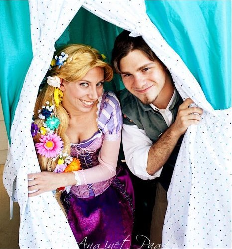 Valentine's Day Couples Contest Entry: Alyson & Alex as Rapunzel & Flynn (Disney's Tangled)