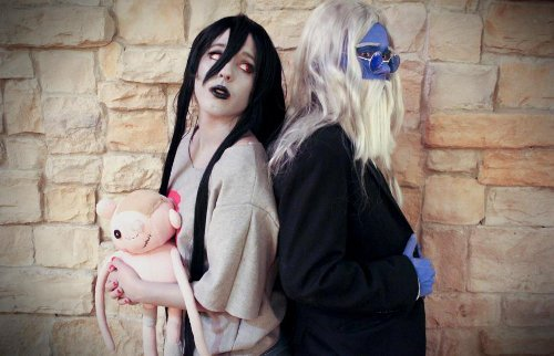 Valentine's Day Couples Contest Entry: Crystal & Loki as Marceline & Simon Petrikov (Adventure Time!)