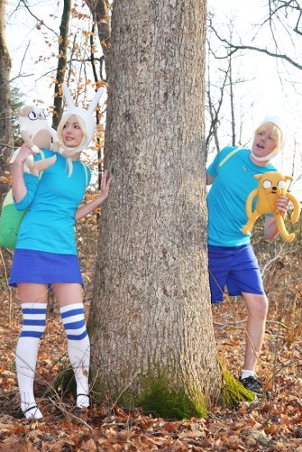 Valentine's Day Couples Contest Entry: Emmachi & Hazard as Finn & Fionna