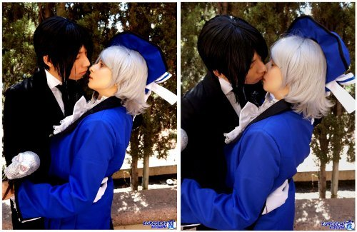 Valentine's Day Couples Contest Entry: Hitomi Chan & Michael as Ciel Phantomhive & Sebastian Michaelis (Black Butler)