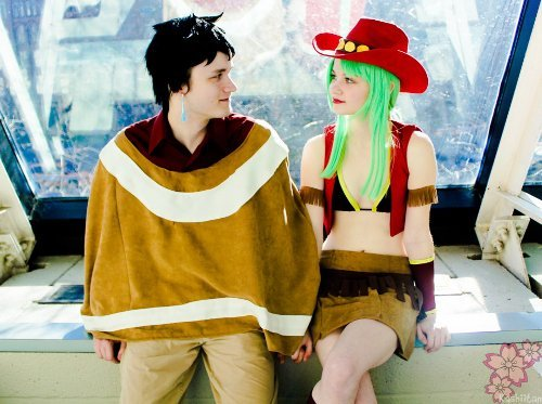 Valentine's Day Couples Contest Entry: James & Kayla (cosplay duo: ChubbyBirdies) as Bisca & Alzack Connell (Fairy Tail)