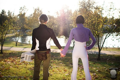 Valentine's Day Couples Contest Entry: Jason & Skye Sea as Holland Novak & Talho Yuuki (Eureka Seven)