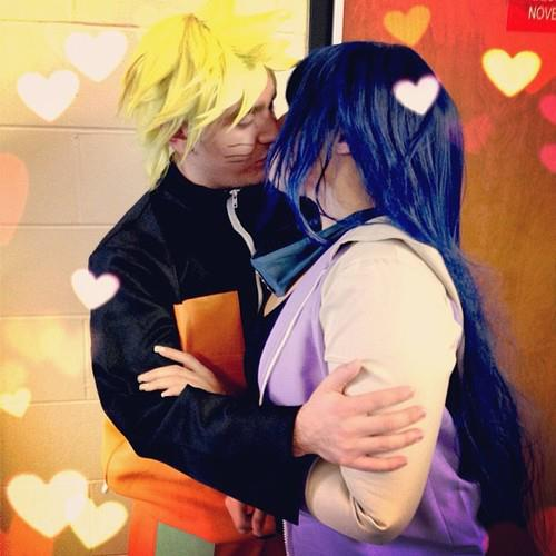 Valentine's Day Couples Contest Entry: Jessy Suazo and her boyfriend are cosplaying as Hinata and Naruto (Naruto)
