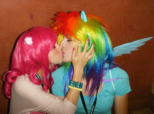 Valentine's Day Couples Contest Entry: Kayla & David as Pinkie Pie & Rainbow Dash (My Little Pony: Friendship is Magic)
