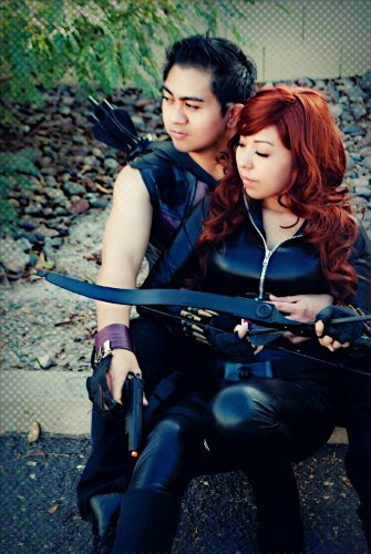 Valentine's Day Couples Contest Entry: Naomi & Matthew as Black Widow & Hawkeye (Marvel's Avengers)