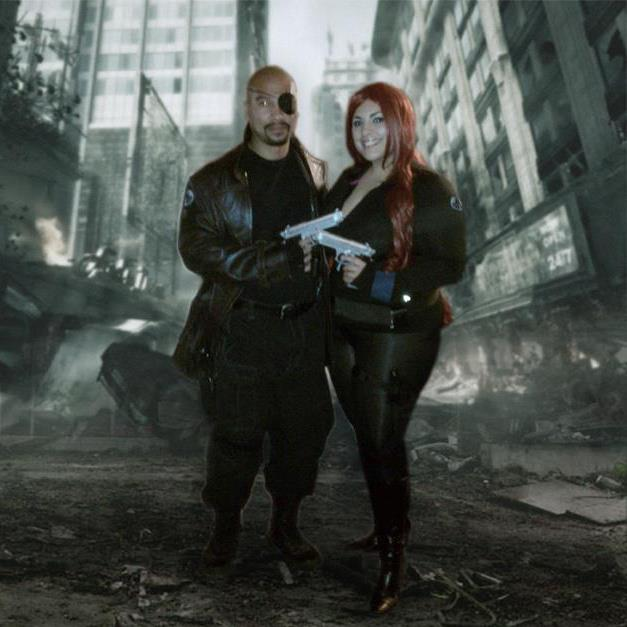 Valentine's Day Couples Contest Entry: MarLouie & Ana as Nick Fury & Black Widow (The Avengers)