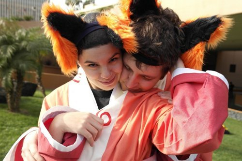 Valentine's Day Couples Contest Entry: Romy Meyerson & John Mersch IV as Kurama (variants) (Naruto)