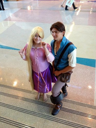 Valentine's Day Couples Contest Entry: Smolder cosplay & Kasu Quinn Cosplay as Flynn Rider & Rapunzel (Tangled)