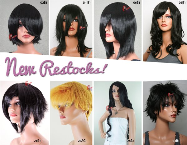 Lots of Black wigs and a random Autumn Gold…restock!