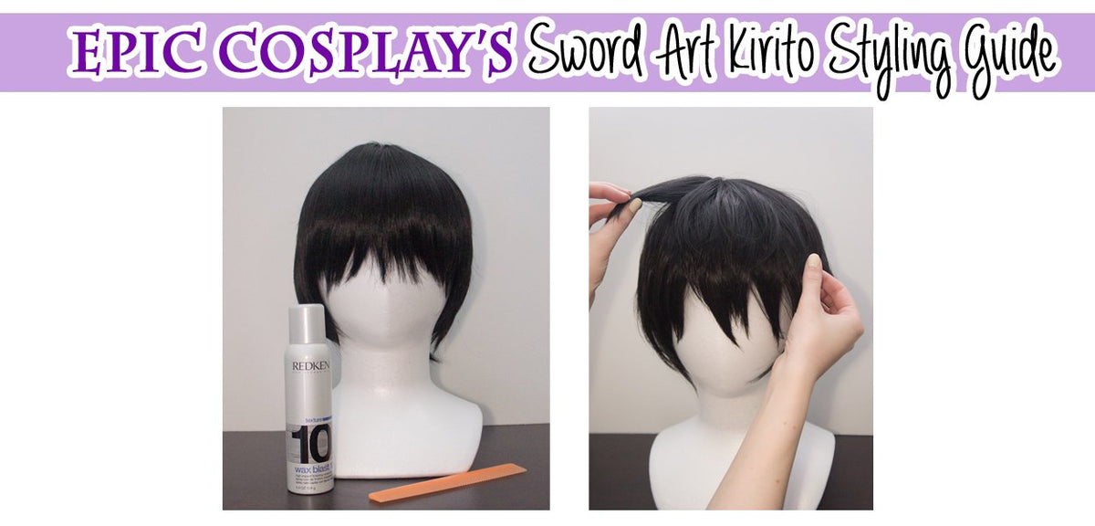 Quick and Easy Styling: How to Style a Kirito Wig!