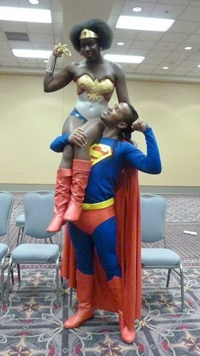 Valentine's Day Couples Contest Entry: Jay & Tony as Wonder Woman & Superman!