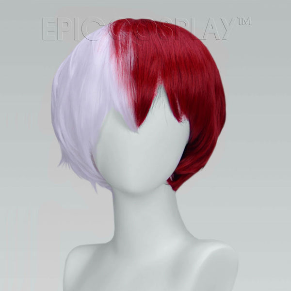 Aether - Classic White and Dark Red Wig