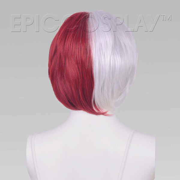 Aether - Silvery Grey and Dark Red Wig