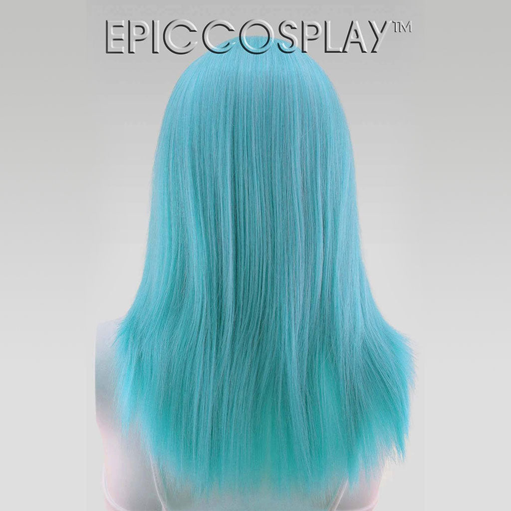 """15/"""" Shoulder Length Straight Cut with Long Bangs Teal Green Cosplay Wig NEW"""