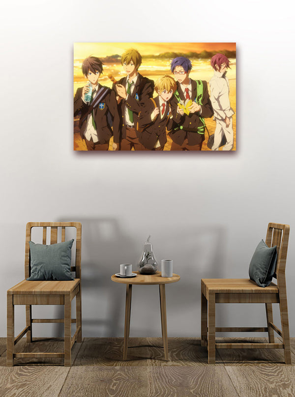 Official Free! Iwatobi Swim Club Canvas Art - Sunset