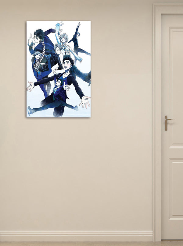 Official Yuri!!! on ICE Canvas Art - Blue Ice