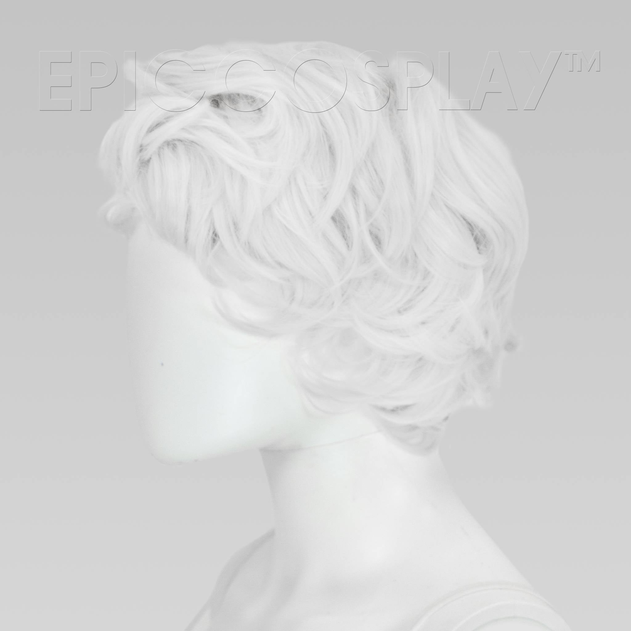 Short White Curly Wig Clearance Shop