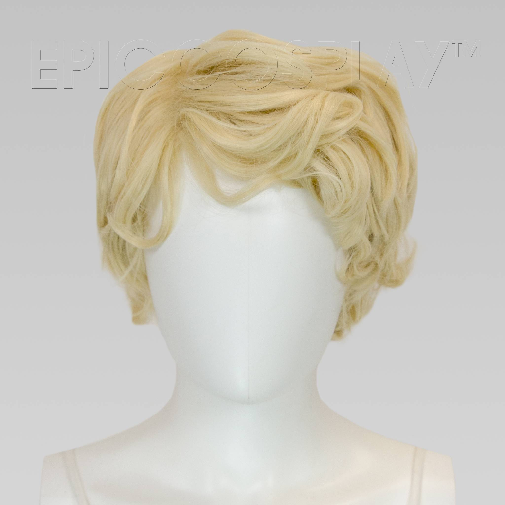 Aion 11 Inch Natural Blonde Curly Short Cosplay Wig