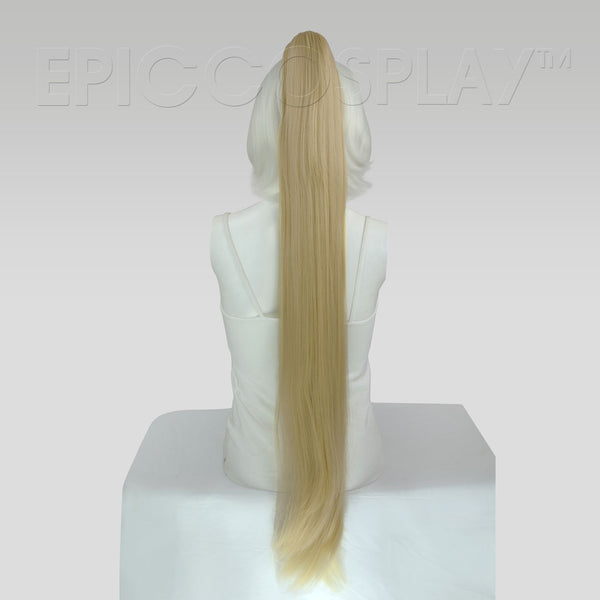 "35"" Blonde Mix Straight Ponytail Clipon"