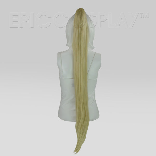 "35"" Natural Blonde Straight Ponytail Clipon"